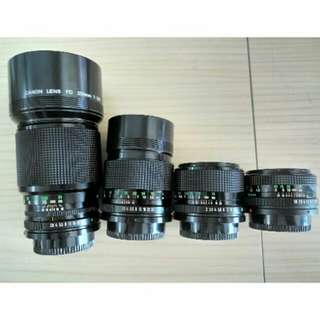 Canon fd lens 35mm 50mm 135mm 200mm fit sony nikon nex