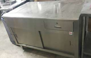 Used Stainless Steel Counter with Drawer