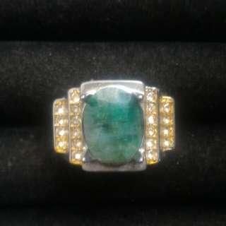 zambian emeralds (free gift titanium ring size 20)