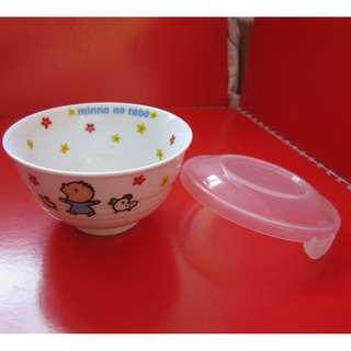 Minna no tabo 大口仔 陶瓷飯碗連膠蓋 2002年