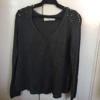 Zara gray knit sweater