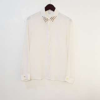 Forever 21 studded collared longsleeves top