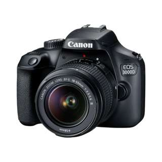 Canon EOS 3000D DSLR Camera with EF-S 18-55mm f3.5-5.6 III Lens
