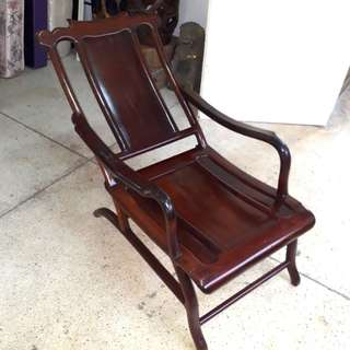 Antique Blackwood relax chair.