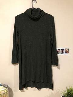 Dark green turtle neck dress