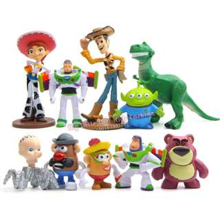 10Pcs Toy Story Buzz Lightyear PVC Figure Mini Collection Cake Topper