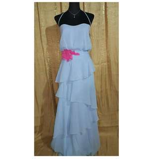 Halter Layered Long Gown