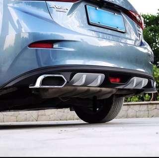Mazda 3 Axela Rear Bumper Exhaust Pipe Accessories