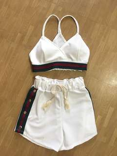Gucci inspired 2 piece