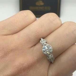 🌹 求婚 OverSize推介卡裝鑽石💎高色=白 E色 🌸GiA證書1.13卡E色E SI2 3EX NON💖