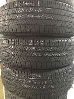 225/65/17 Yokohama geolander G91 used tyres