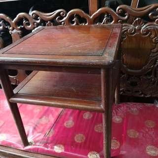 中式家具~紅酸枝正四方茶幾