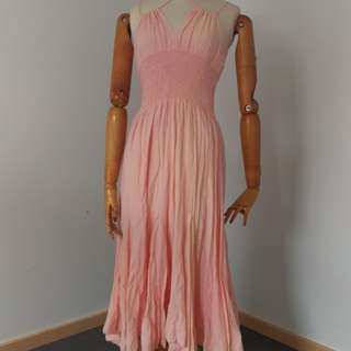 Preloved Peach Maxi summer dress