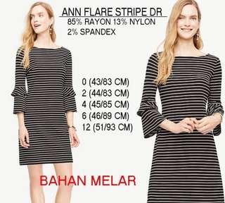 Branded ANN Flare Stripe Dress