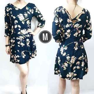 X-BACK FLORAL DRESS rt-P380