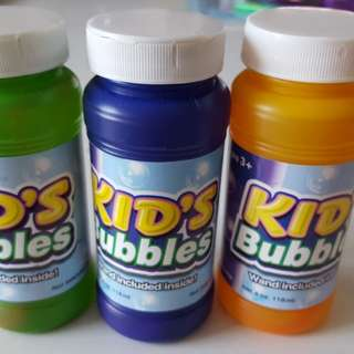 Bubble solution 118ml each