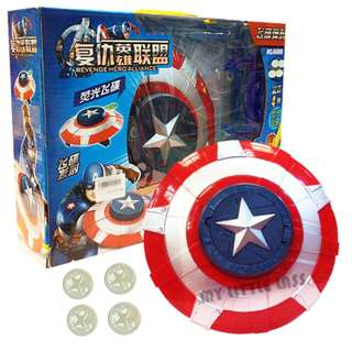 Avengers Captain America Launcher Shield Weapon Toy
