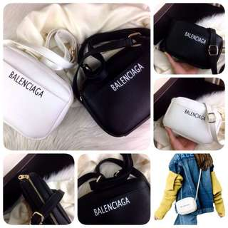 BALENCIAGA Printed Logo Camera Leather Crossbody SS18 Bag