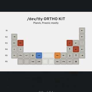 Matt3o /dev/tty MT3 Custom Keycap Set [ortho]