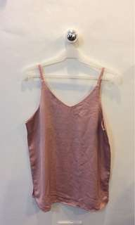 Shop Copper silky tank top with choker