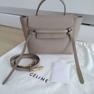 Celine Belt Bag in Dune Color