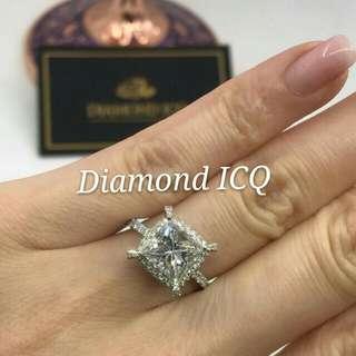 💥 3卡my princess 公主方鑽石 💍 啱晒鍾情公主方的你 🌸GiA證書3.00卡 H色 VS1 NON💖