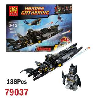 LELE 79037 Super Heroes Minifigures 138Pcs Batman Submarine