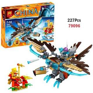 LELE 79096 Compatible Brick Vardy's Ice Vulture Glider 227pcs