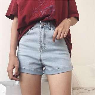 🚚 彈性超👍的牛仔短褲 三色