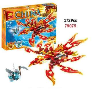LELE 79075 Compatible Brick Ultimate Phoenix 172Pcs