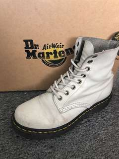 Dr Martens off white pascal boots