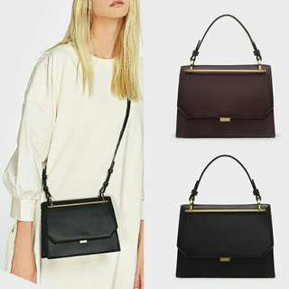 CHARLES & KEITH FLAP BUTTON SNAP SATCHE BAG
