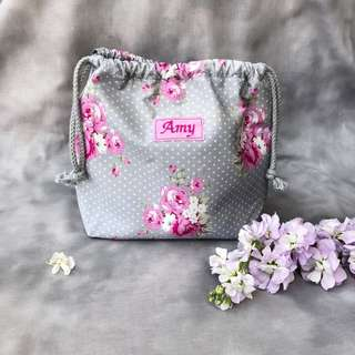 Floral drawstring pouch 🌸