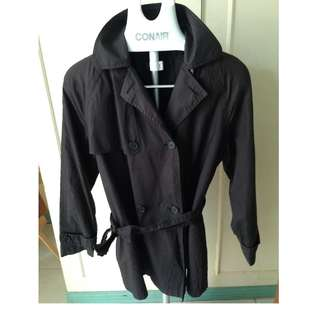 Sale! Repriced! Black Winter Trench Coat / Jacket / Top