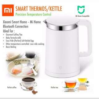 (Ready Stock)Xiaomi Smart Kettle Thermo. Bluetooth Precision Temperature control. Sous Vide companion. Brew perfect coffee, tea or Singapore style soft boiled egg.