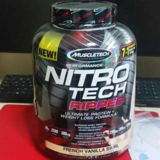 MUSCLETECH NITROTECH RIPPED Best Whey Protein + fat loss formula Lowest price offer / 30g Protein