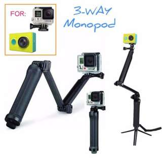 GoPro Accessories 20cm Collapsible 3 Way Monopod