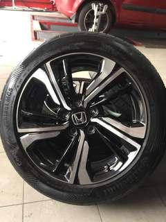 """Original Civic FC Enkei 17"""" Rims & Tyres"""