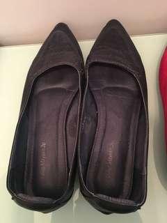 深藍色平底鞋 navy flats