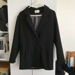 B Plus black coat