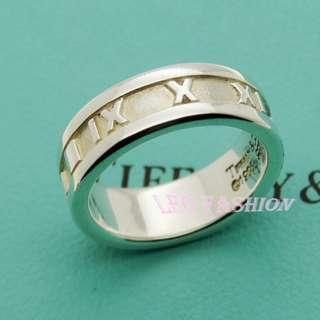 🚚 【LEO FASHION】二手正美品 Tiffany&Co.  Atlas 羅馬數字寬版戒指