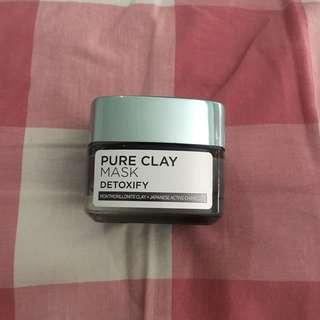 loreal pure clay mask detoxify