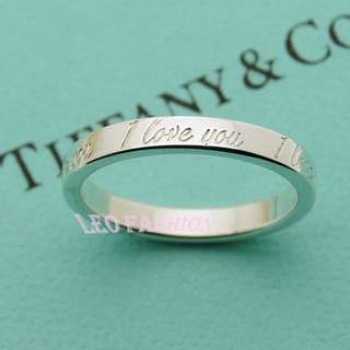 🚚 【LEO FASHION】二手正美品 Tiffany&Co. Notes系列I Love you 環繞刻印戒指