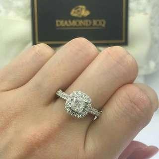 🌹求婚好推介高色高淨度鑽石💎OverSize F色 🌸GiA證書1.12卡F色 SI1 3EX NON💖