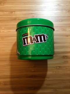 m&m's chocolate container