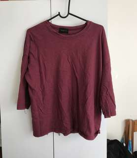 Red oversized t shirt