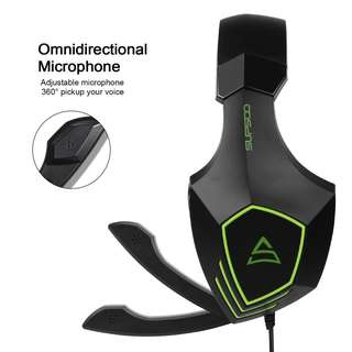 SUPSOO Newly Multi-Platform Over Ear G820 Bass Stereo Gaming Headsets with Noise Isolation Microphone For New Xbox one PS4 PC Laptop Mac iPad iPod (Black&Green)