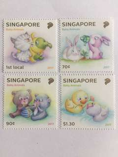 Singapore 2017 Baby Animals mnh