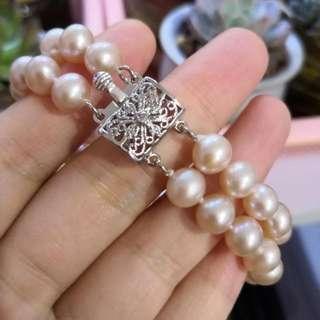 珍珠手链 双层9mm
