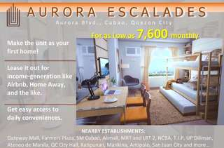 condo for sale 7700 per month cubao aurora